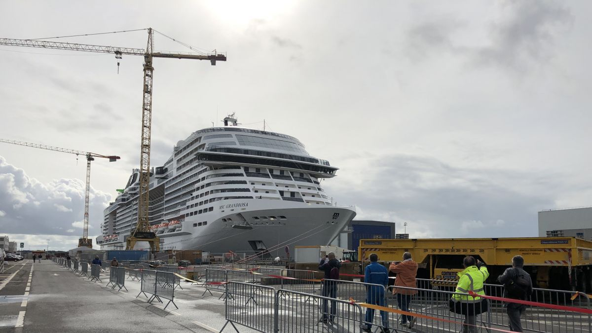 PHOTOS. Saint-Nazaire : le MSC Grandiosa, un paquebot encore plus grandiose