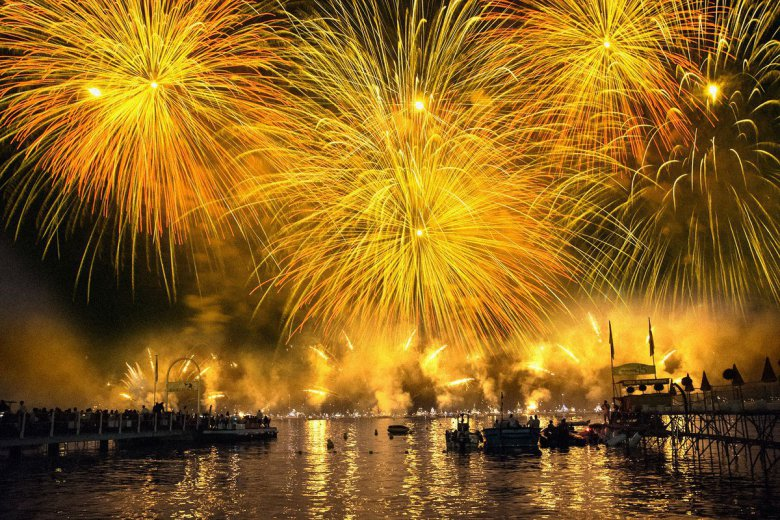 Feu d'artifice de Cannes.  / © Compte twitter Cannes is Yours