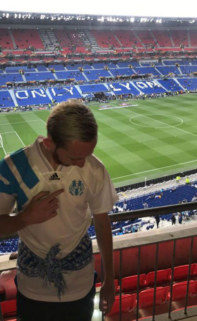 Merci à Benjamin pour sa photo, qui supportera l'OM ce soir au Groupama Stadium de Lyon.