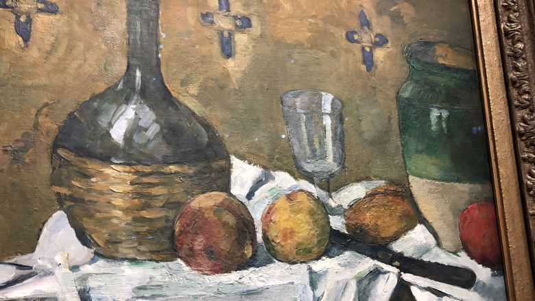 Paul Cézanne , Fiasque verre et poterie vers 1977, / © Thannhauser Collection