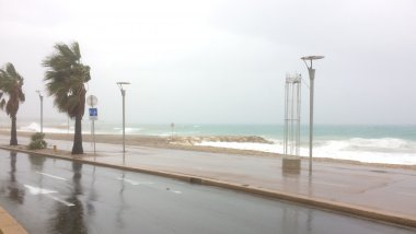 Cagnes sur Mer ce lundi matin / © Laurence Collet