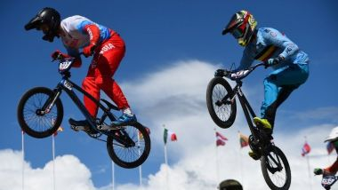 L'art du saut durant l'Euro BMX / © Photo Andy Buchanan/AFP