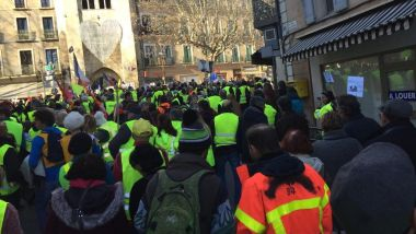Les gilets jaunes à Manosque / © Photo S.U
