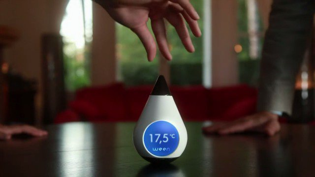 La start-up aixoise Ween va commercialiser un thermostat connecté au smartphone.  / © Capture d'écran youtube