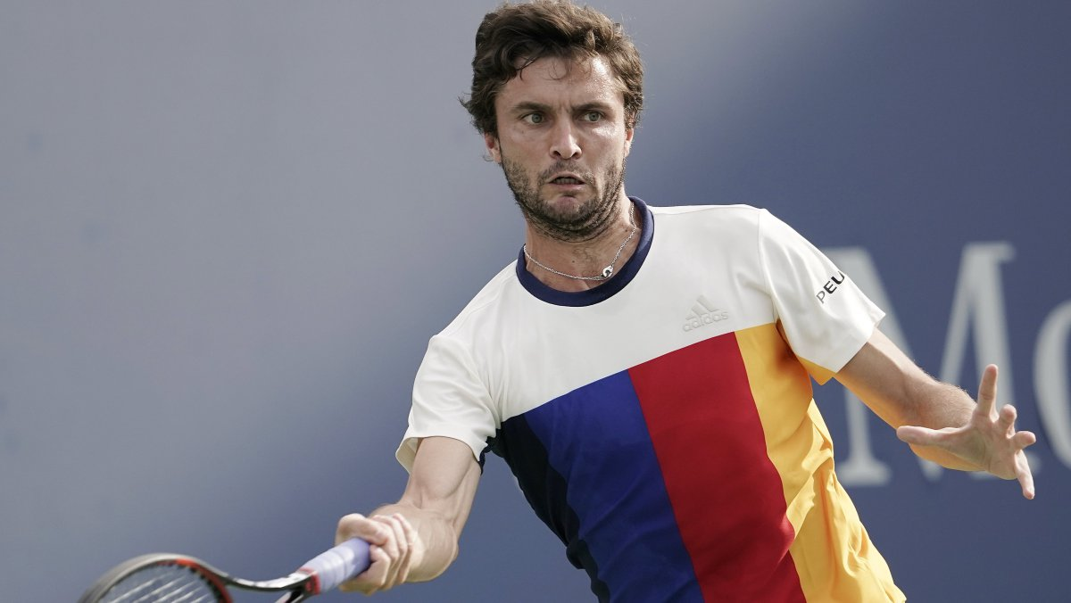Gilles Simon (FRA) bat David Goffin (BEL/N.8) 7-6 (7/4), 6-3. / © Maxppp