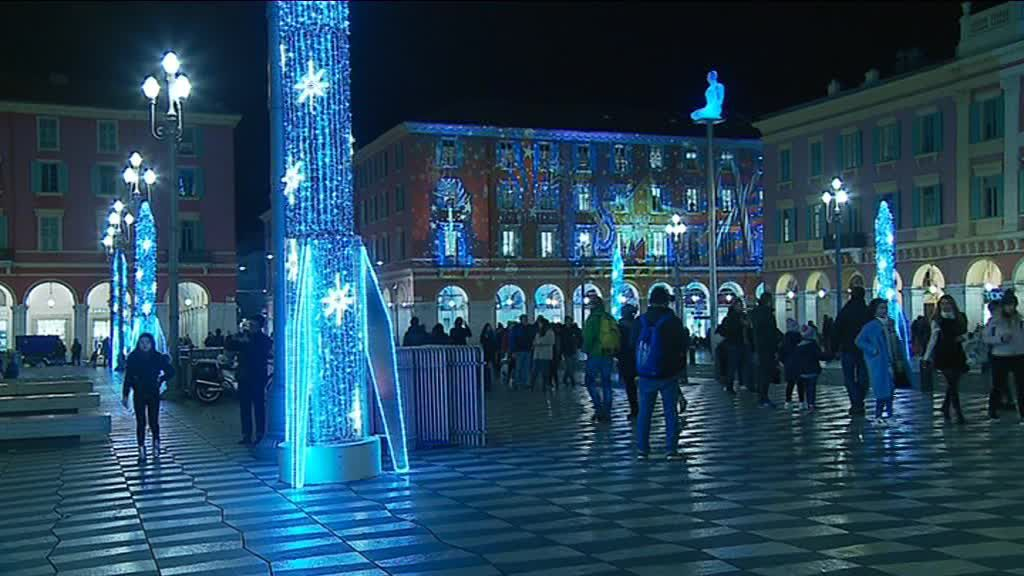 Les illuminations à Nice place Massena. / © France 3 Côte d'Azur