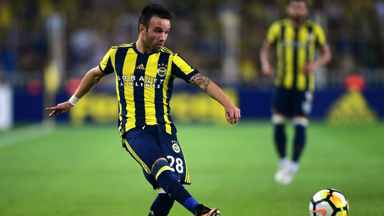 Mathieu Valbuena, aux couleurs du Fenerbahce le 3 août 2017 à Istambul.(UEFA Europa League) / © Photo AFP