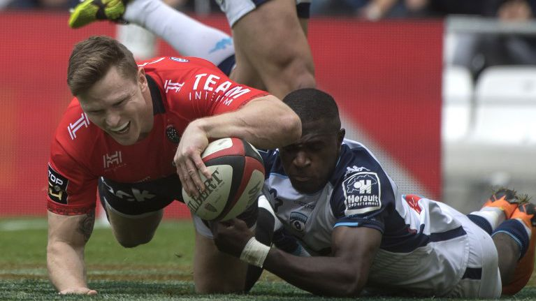 Moment d'action durant la rencontre du RC Toulon contre Montpellier, lors de la 24e journée (Top14) / © Photo Bertrand Langlois/AFP