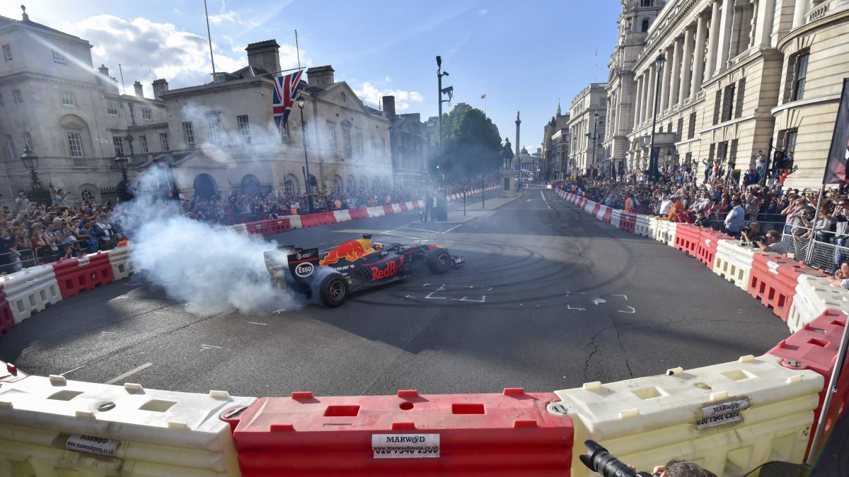 A Londres 100 000 spectateurs sont venus assister au show F1 Live en 2017. / © Stephen Chung/London News Pictures/MAXPPP