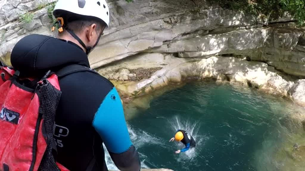 Sortie Canyoning. / © France 3 côte d'Azur
