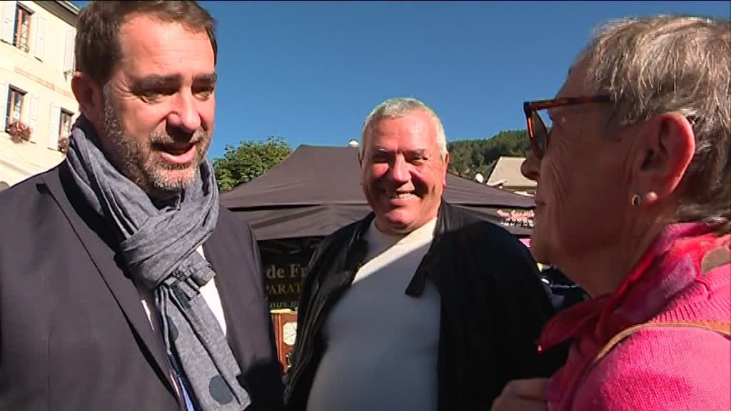 Christophe Castaner à Seyne-les-Alpes / © Photo Léo Centofanti/France3 Provence