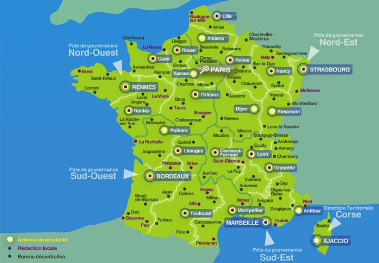France 3 r gions contactez les quipes de france 3 en for Site touristique france
