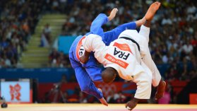 Teddy Riner - juillet 2012. / © AFP PHOTO / MIGUEL MEDINA