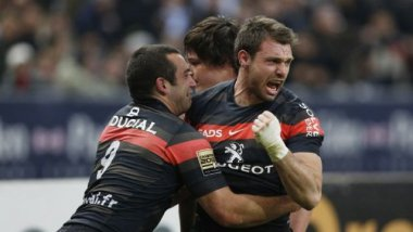 Vincent Clerc lors d'un match du Stade Toulousain, en mars 2013. / © AFP PHOTO / FRANCOIS GUILLOT