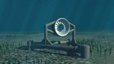 Une hydrolienne DCNS / © DCNS OpenHydro