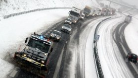Navas 16/01/2013 Neige sur l'A89 (illustration-archives) / © PHOTOPQR/LA MONTAGNE/Quentin Reix