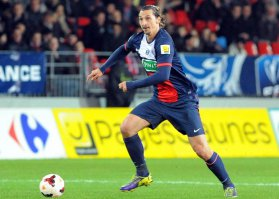 Zlatan Ibrahimovic, auteur de trois but contre Brest en Coupe de France / © AFP - Fred Tanneau