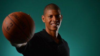 Le basketteur Walter Tavares le 25 juin 2014 à Westin Times Square, New York / © 2013 NBAE Jesse D. Garrabrant/NBAE via Getty Images/AFP
