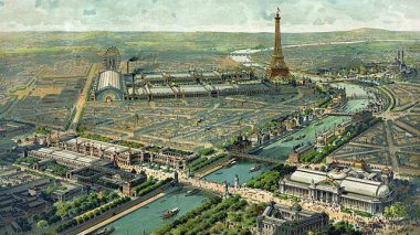Vue panoramique de l'exposition universelle de 1900 à Paris. / © Wikicommons