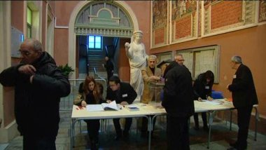 Le bureau de vote n°1 a enregistré plus de 75 % de participation en fin de journée. / © France 3 Corse ViaStella