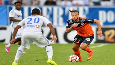 Anthony Ribelin, attaquant au MHSC - 2014. / © MHSC