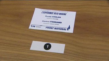 Un bulletin de vote FN / © France 3 Alsace