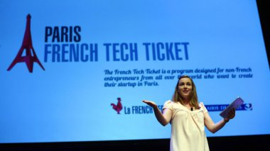 Axelle Lemaire à la French Touch Conference à New York mercredi 24 juin 2015. / © AFP PHOTO / TIMOTHY A. CLARY