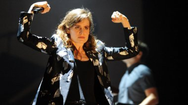 Christine and The Queens aux Vieilles Charrues 2015 / © AFP/ Fred Tanneau