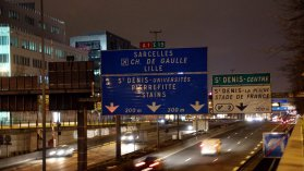 Des restrictions de circulation en marge de l'ouverture de la COP 21 au Bourget. / © PHOTOPQR/LE PARISIEN