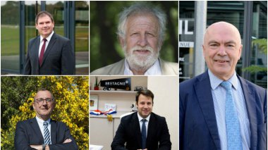 collage des photos officielles des candidats participants au débat / © F3