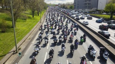 Une manifestation de motards (image d'illustration). / © Abdel Joudi/France3 Paris