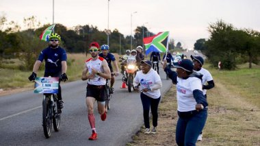 "Thibaut Baronian le traileur bisontin gagne la course ""Wings for life run"" en Afrique du Sud / © Thibaut Baronian"