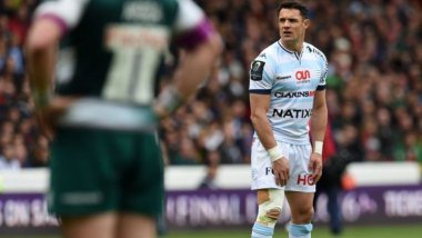 Dan Carter sera le leader du Racing 92 pour cette finale de Top 14 / © PAUL ELLIS / AFP