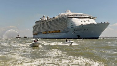 Harmony of the seas, le grand départ ! / © JEAN-FRANCOIS MONIER / AFP
