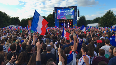 "Archives : la ""fan zone"" de Lille / © France 3 Nord"