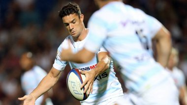 Dan Carter, lors du match face à l'Union Bordeaux Bègles, le 20 août 2016. / © PHOTOPQR/SUD OUEST/MAXPPP