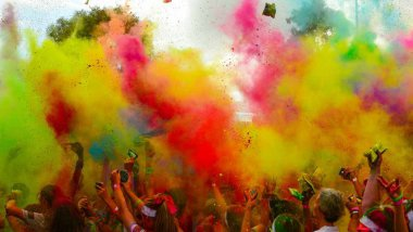 "Une ""Color Run"" à Melbourne, en Australie, en 2014 / © Chris Phutully"