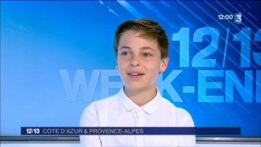 Fabio Chaput, invité du journal de France 3 Côte d'Azur / © France 3 Côte d'Azur
