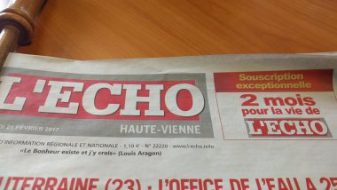 Le journal l'Echo lance une nouvelle souscription. / © France 3 Limousin