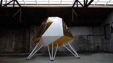 Out of site THE MOTHERSHIP, 2014, Anya Sirota, Jean Louis Farges. Mothership est un set place de DJ / © Akoaki