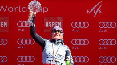 Tessa Worley remporte le globe de géant à Aspen / © TOM PENNINGTON / GETTY IMAGES NORTH AMERICA / AFP