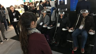 "Démonstration ""immersive"" au salon Laval Virtual 2017 / © GS, France 3 Pays de la Loire"