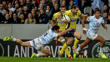 Le Racing absorbe Clermont 27-24. / © PHILIPPE HUGUEN / AFP
