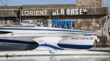 Le Race for Water va larguer les amarres, dimanche 9 avril, dans le port de Lorient (Morbihan). / © Race for Water / Peter Charaf
