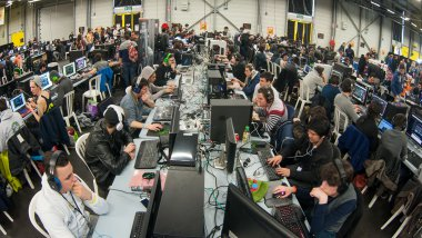 La Gamers Assembly en 2015 à Poitiers. / © GUILLAUME SOUVANT / AFP