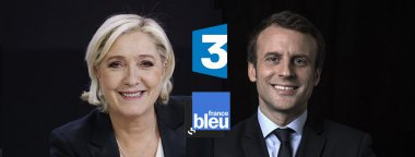 Les candidats du second tour sur France 3 - Marine Le Pen et Emmanuel Macron / © Photos AFP
