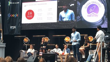 "Le ""pitch"" des startupers indiens de Zify / © GS, France 3 pays de la Loire"