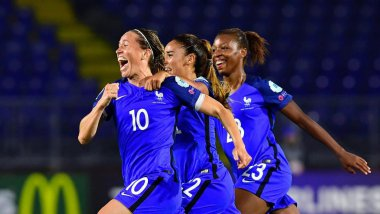 Camille Abily a marqué le but de la qualification / © AFP