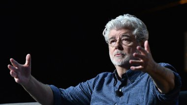 George Lucas participe au Star Wars Celebration, le 13 avril 2017 à Orlando en Floride (Etats-Unis). Gustavo Caballero/Getty Images/AFP