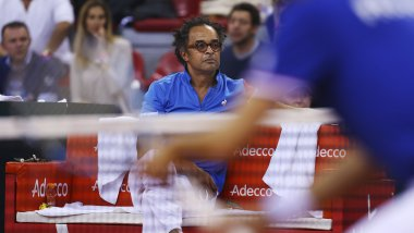 Yannick Noah, capitaine de l'équipe de France / © CHARLY TRIBALLEAU / AFP